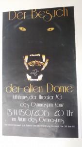 Plakat Der Besuch der alten Dame